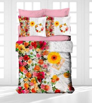 Комплект постельного белья Gokay Ранфорс 3D Botanik 200x220 (010079126)