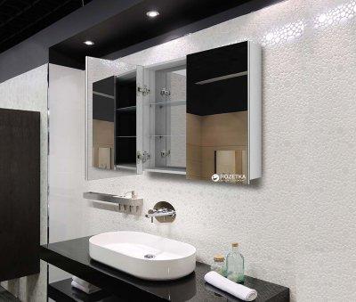 Зеркальный шкаф J-MIRROR Atlant 2 дверцы без подсветки 80x120