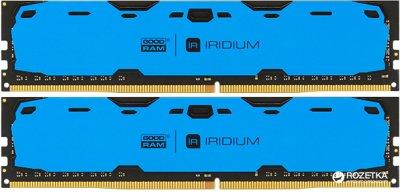 Оперативная память Goodram DDR4-2400 16384MB PC4-19200 (Kit of 2x8192) IRDM Blue (IR-B2400D464L15S/16GDC)