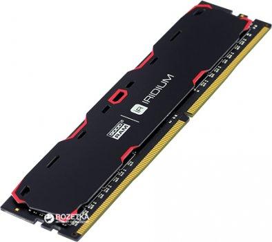 Оперативна пам'ять Goodram DDR4-2400 8192MB PC4-19200 IRDM Black (IR-2400D464L15S/8G)
