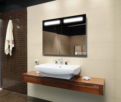 Зеркальный шкаф J-MIRROR Benedetto 2 дверцы c LED-подсветкой 70х80