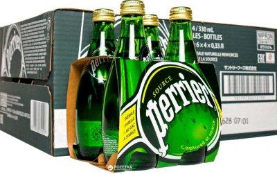 Упаковка минеральной газированной воды Perrier 0.33 л х 24 бутылки (3179730110833_3179732351517)