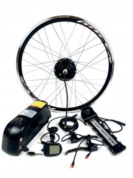 Электронабор с мотор колесом 36V 350W 12.5А с LCD полный комплект с передним или задним редукторным мотором