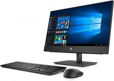 Моноблок HP ProOne 440 G4 (4YV98ES); 23.8 (1920х1080) IPS / Intel Celeron G4900T (2.9 ГГц) / RAM 4 ГБ / HDD 500 ГБ / Intel HD Graphics 610 / DVD-RW / LAN / Wi-Fi / Bluetooth / веб-камера / кардрідер / DOS / чорний / клавіатура + миша