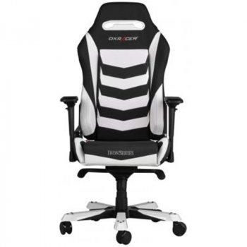 Крісло для геймерів DXRAcer Iron OH/IS166/NW Black/White