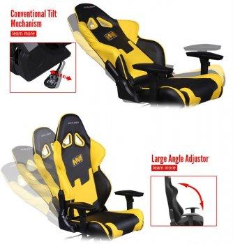 Крісло для геймерів DXRacer Racing OH/RZ21/NY/NAVI Black/Yellow
