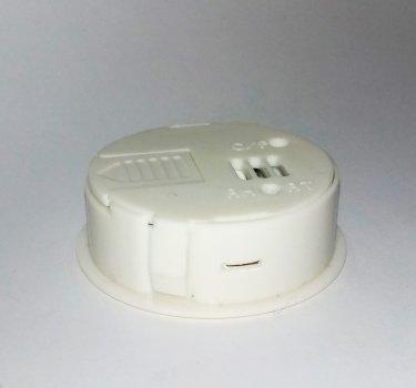 Термометр - гигрометр DIGITAL 27001 круглый встраиваемый, БЕЛЫЙ (n281)