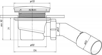 Сифон для душевого поддона ANI PLAST Е321C