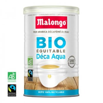 Кофе молотый Malongo Decaffeinated Deca Aqua 250 г