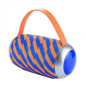 Портативна Bluetooth колонка вологостійка T&G 112 Blue-Orange