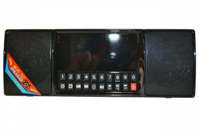 Портативная колонка UKC блютуз MP3 часы WS-1515 bluetooth Black