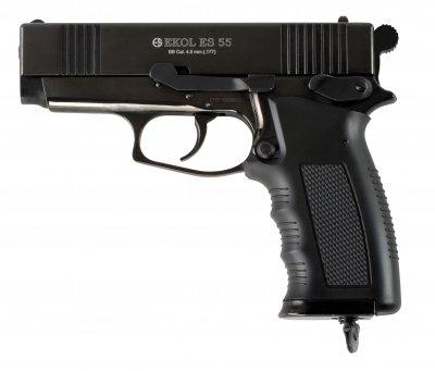 Пневматический пистолет EKOL ES55 Black CO2, 4.5 мм Ekol Черный