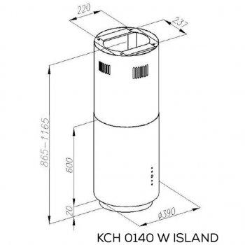 Витяжка кухонна Kernau KCH 0140 W ISLAND