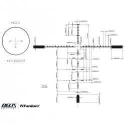 Прицел оптический Delta DO Titanium 4.5-30x50 MCZ II illum. 30mm Delta Optical