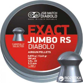 Свинцеві кулі JSB Diabolo Exact Jumbo RS 0.87 г 500 шт. (14530513)