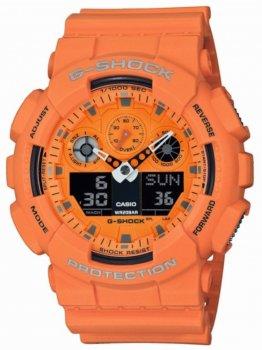Годинник Casio GA-100RS-4AER G-Shock 51mm 20ATM