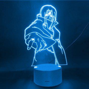 Настільний світильник-нічник Ітачі Учіха з печаткою - Наруто Itachi Uchiha Naruto16 квітів 3D USB (8216)