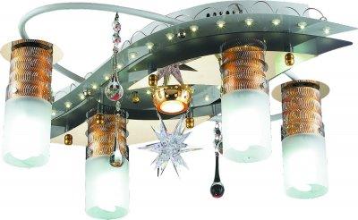 Стельовий світильник Altalusse LV205-05 White & Gold Е27 4х40Вт+Mr11 1х20Вт+LED