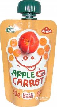 Фруктове органічне пюре OVKO Яблуко з морквою з 6 місяців 90 г (8586015178870)