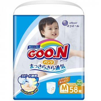 Японські підгузники-трусики Goo.N М для дітей 6 - 12 кг унісекс 58 шт (853626)