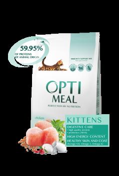 Сухой корм Optimeal Kittens Chicken для котят со вкусом курицы