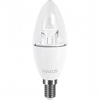 Лампа Maxus LED C37 CL-C 6 Вт E14 3000 K тепле світло
