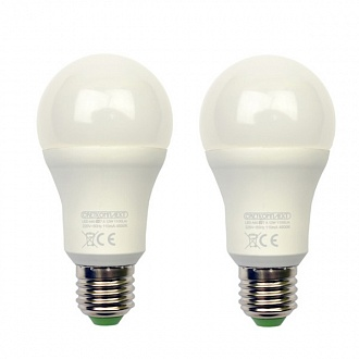 Лампа LED Светкомплект A60 E27 10 Вт 3000K тепле світло 2 шт