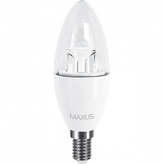 Лампа Maxus LED C37 CL-C 6 Вт E14 4100K холодний світ