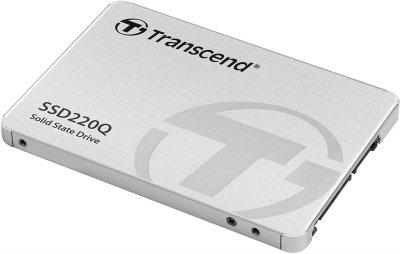 """SSD накопичувач TRANSCEND SSD220Q 500GB 2.5"""" SATAIII, QLC (TS500GSSD220Q)"""
