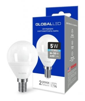 Світлодіодна лампа Maxus Global 1-GBL-144 G45 5W 4100К 220V E14 (58601)