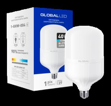 Світлодіодна лампа високопотужна Maxus Global 1-GHW-004 40W 6500K E27 (58280)