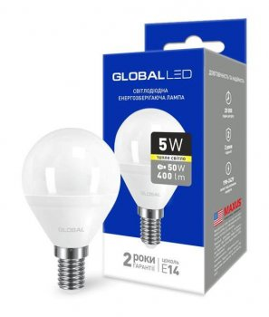 Світлодіодна лампа Maxus Global 1-GBL-143 G45 5W 3000К 220V E14 (58602)