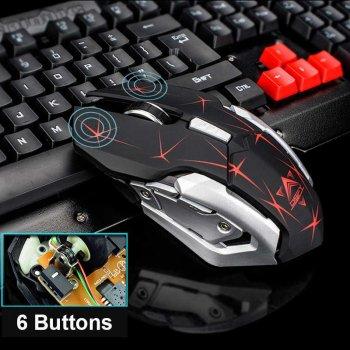 Клавіатура і миша бездротовий ігровий набір UKC HK-6700