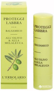 Защитный бальзам для губ Lerbolario с оливковым маслом и маслом чайного дерева 4.5 мл (8022328101414)