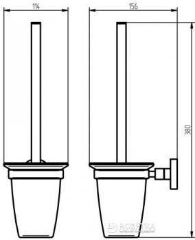 Йоршик для унітазу HACEKA Kosmos TEC (402419)