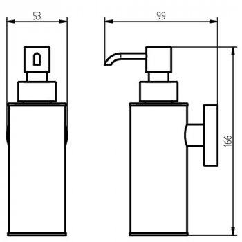 Дозатор для жидкого мыла HACEKA Kosmos Black (402917)