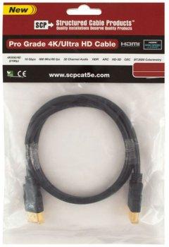 Кабель SCP 944E-6 HDMI to HDMI 1.8 м UltraHD 4K Black PVC (SCP944E-6)