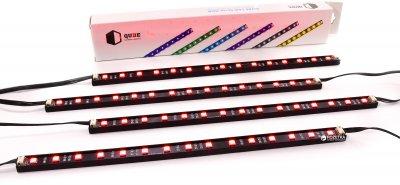 Підсвітка для корпусу QUBE RGB Aura Kit 4xRGB Stripe 300 мм (RGB_AURA_KITv02)