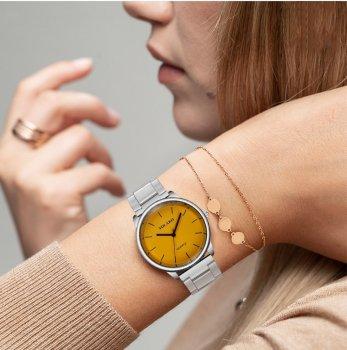 Женские классические часы Yolako, циферблат - желтый, арт. (41473)
