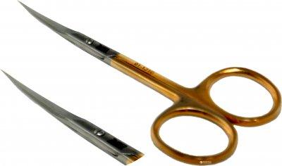 Ножницы маникюрные для кутикул Zauber-manicure золотые 01-131G (4004904211315)