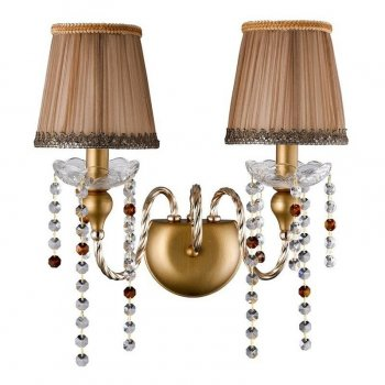 Бра Crystal Lux Alegria Ap2 Gold-Brown 36655