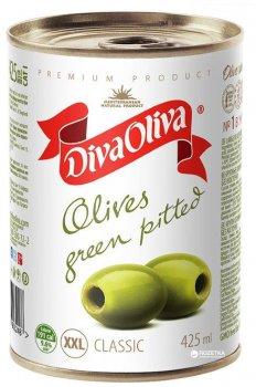 Оливки крупные без косточки Diva Oliva XXL 425 мл (5060162903248)