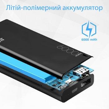 УМБ Promate 6000 mAh Black (energi-6.black)