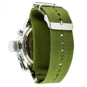 Чоловічі армійські годинник з вологозахистом AMST C Silver-Green Green Wristband original