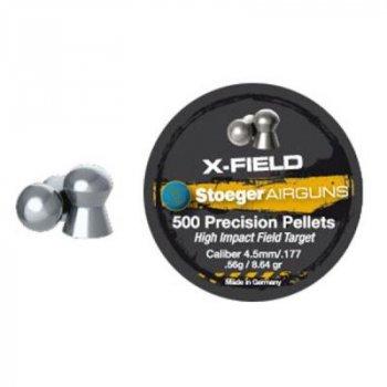 Пульки Stoeger X-Field Target 4.5мм/177 0.56g (500шт.) (92104500005S)