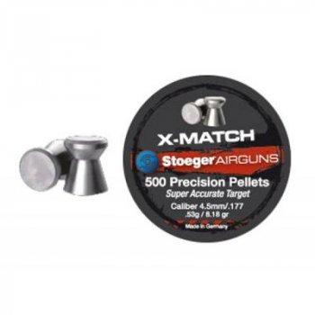 Пульки Stoeger X-Match Flat 4.5мм/177 0.53g (500шт.) (92314500005S)