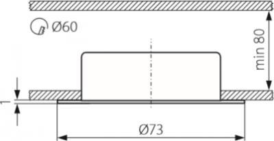 Світильник точковий Kanlux CT-2116B-C Gavi (KA-811)