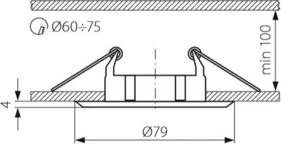 Світильник точковий Kanlux CTC-5514-AN Vidi (KA-2795)