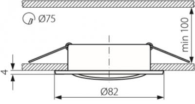 Світильник точковий Kanlux Vidi CTC-5515-B (KA-25996)