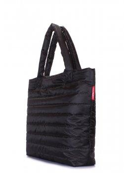 Дутая женская сумочка Poolparty черная